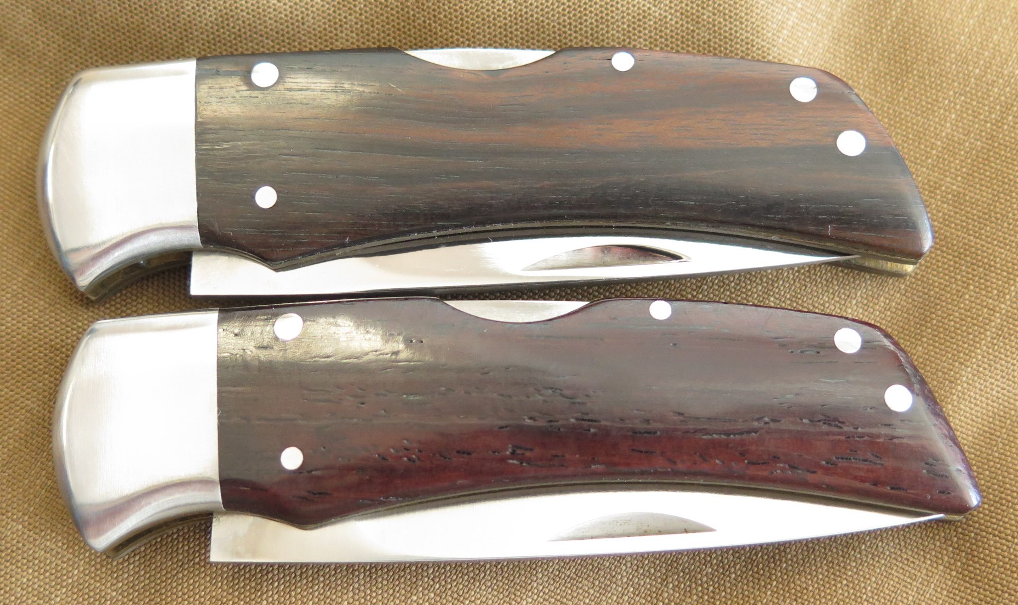 Gerber Ebony Folding Hunter I and Rosewood G. Sakai