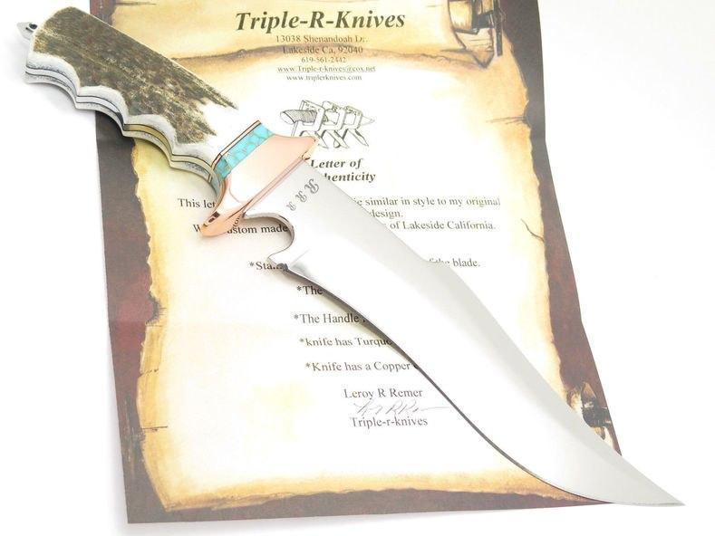 Custom RRR Subhilt Style Bowie - Made for ePrague Knives